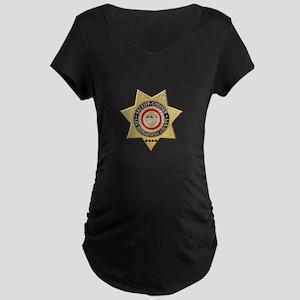 San Bernardino Sheriff-Coroner Maternity T-Shirt