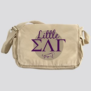 Sigma Lambda Gamma Little Letters Pu Messenger Bag