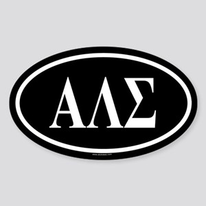 ALPHA LAMBDA SIGMA Oval Sticker