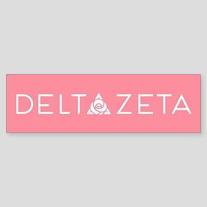 Delta Zeta Sticker (Bumper)