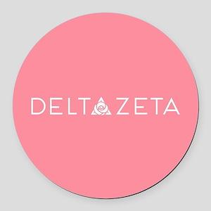 Delta Zeta Round Car Magnet