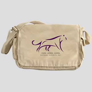 Sigma Lambda Gamma Logo Messenger Bag