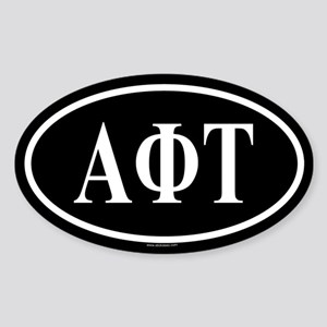 ALPHA PHI TAU Oval Sticker