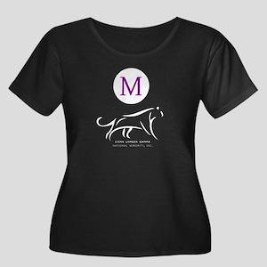 Sigma La Women's Plus Size Scoop Neck Dark T-Shirt