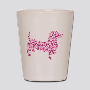 Doxie Hearts Shot Glass