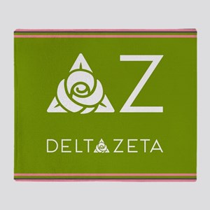 Delta Zeta Greek Letters Throw Blanket