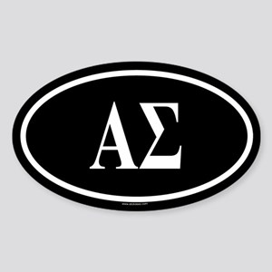 ALPHA SIGMA Oval Sticker