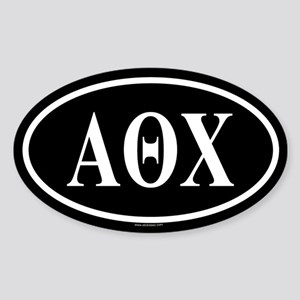 ALPHA THETA CHI Oval Sticker