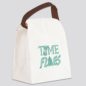 Time Flies Drawing Canvas Lunch Bag