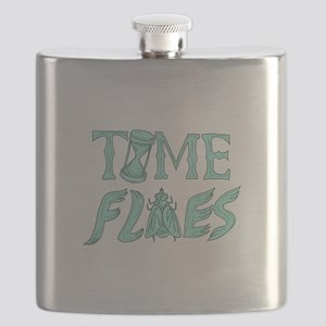 Time Flies Drawing Flask
