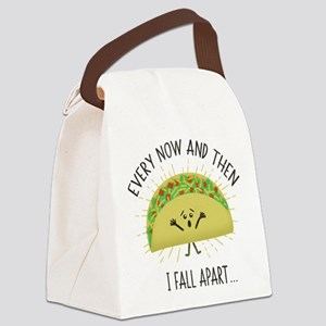 Every Now and Then I Fall Apart F Canvas Lunch Bag
