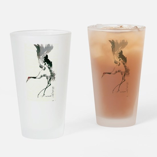 watercolor sandhill Drinking Glass