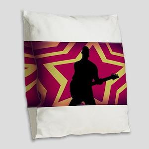 Music Festival Con Burlap Throw Pillow