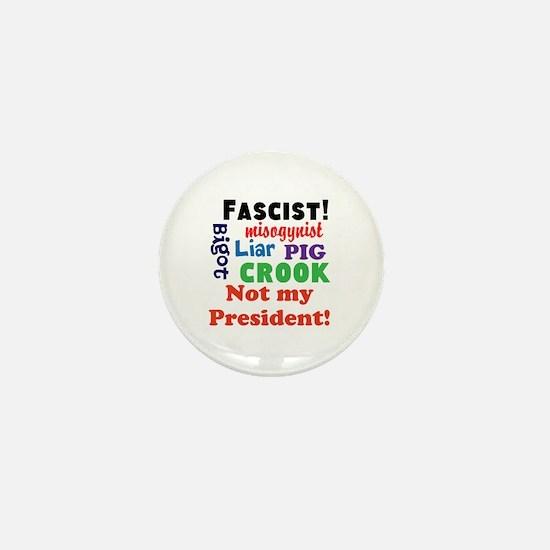 Fascist, pig, liar,bigot, not my president Mini Bu