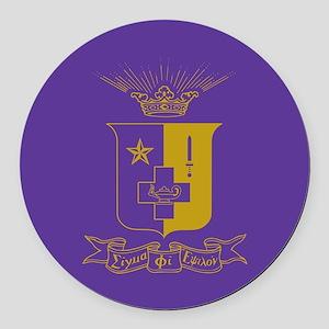 Sigma Phi Epsilon Crest Round Car Magnet
