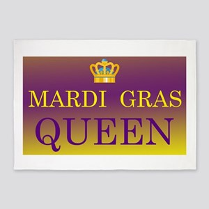 Mardi Gras Queen 5'x7'Area Rug