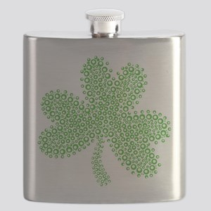 Fancy St Paddys Day Shamrock Irish Flask