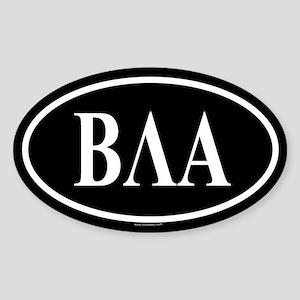 BETA LAMBDA ALPHA Oval Sticker