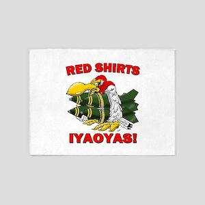Red Shirts Ordinance IYAOYAS 5'x7'Area Rug
