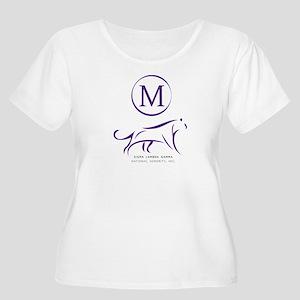 Sigma Lambda Women's Plus Size Scoop Neck T-Shirt