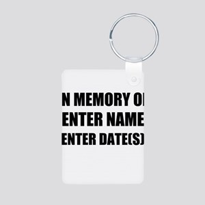 In Memory Of Personalize It! Keychains