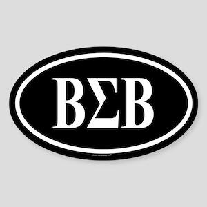 BETA SIGMA BETA Oval Sticker