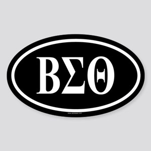 BETA SIGMA THETA Oval Sticker