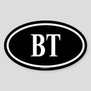 BETA TAU Oval Sticker