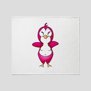 pink pinguin penguin Throw Blanket