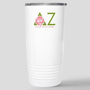 Delta Zeta Personalized Stainless Steel Travel Mug
