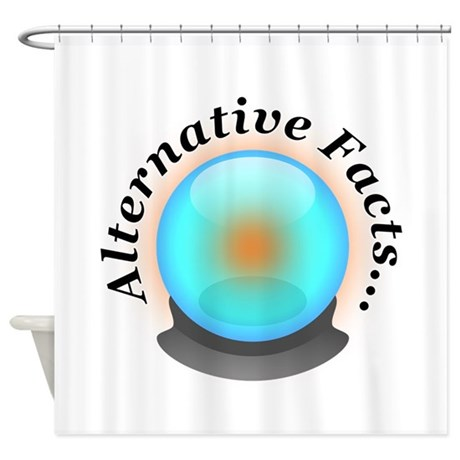 alternative facts shower curtain by niftypolitics. Black Bedroom Furniture Sets. Home Design Ideas