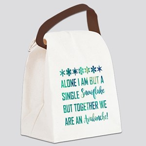 ALONE I AM... Canvas Lunch Bag
