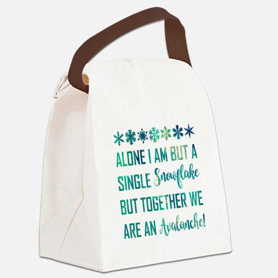 ALONE I AM... Canvas Lunch Bag