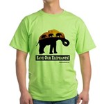 Save Our Elephants Green T-Shirt