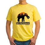 Save Our Elephants Yellow T-Shirt