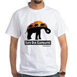 Save Our Elephants White T-Shirt