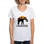 Save Our Elephants Women's V-Neck T-Shirt
