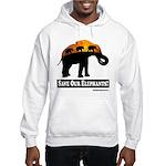Save Our Elephants Hooded Sweatshirt