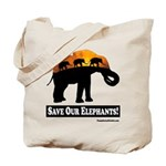 Save Our Elephants Tote Bag