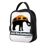 Save Our Elephants Neoprene Lunch Bag