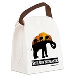 Save Our Elephants Canvas Lunch Bag