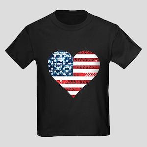 usa flag heart T-Shirt