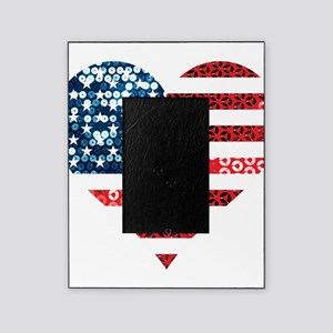 usa flag heart Picture Frame