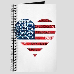 usa flag heart Journal