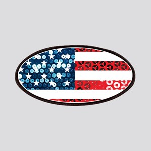 usa flag heart Patch