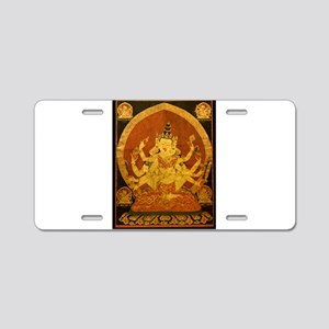 Akshobhya Wisdom Buddha Aluminum License Plate