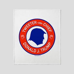 Trump Tweeter in Chief Throw Blanket