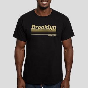 Brooklyn New York Men's Fitted T-Shirt (dark)
