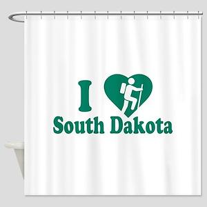 Love Hiking South Dakota Shower Curtain
