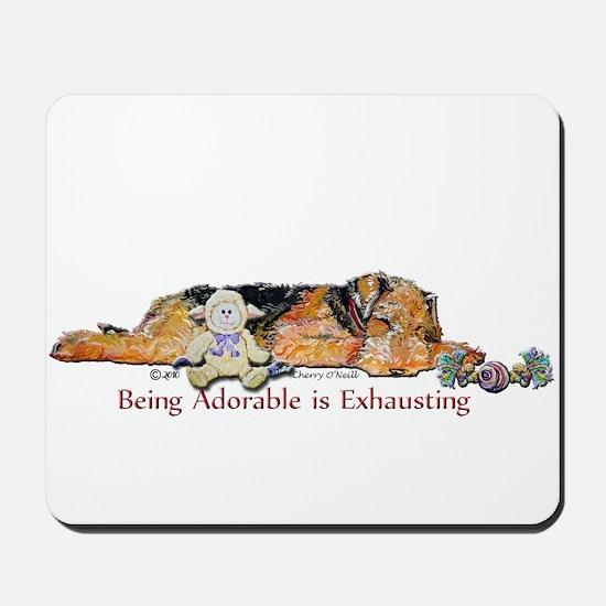 Sleepy Airedale Mousepad